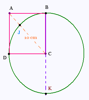 Mathematics pytaghore - Calcul diagonale carre ...